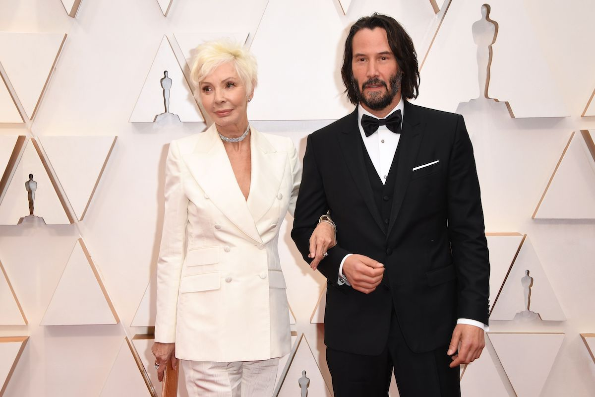 Keanu Reeves and his mother, Patricia Taylor, at the 92nd Oscars