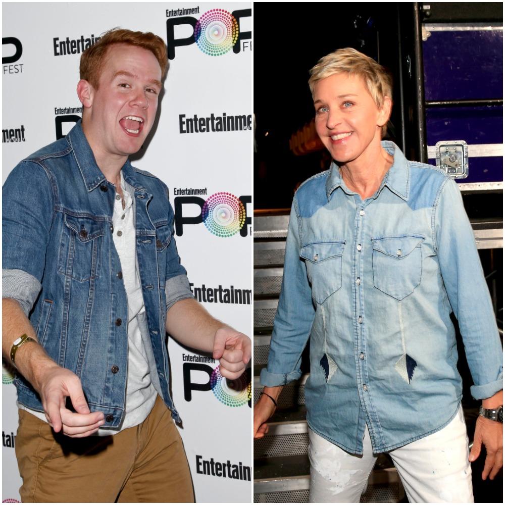 Kevin T. Porter and Ellen DeGeneres