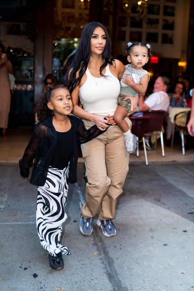 Kim Kardashian West with her daughters, North and Chicago