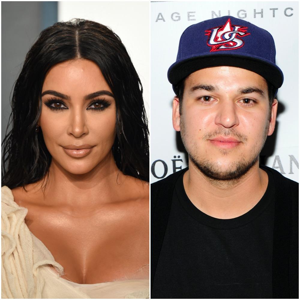 Kim Kardashian West and Rob Kardashian