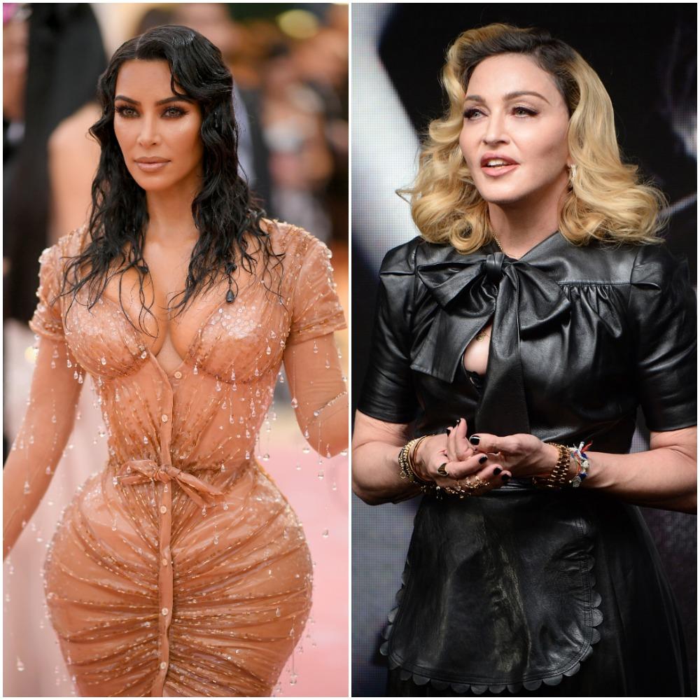 (L) Kim Kardashian West, (R) Madonna