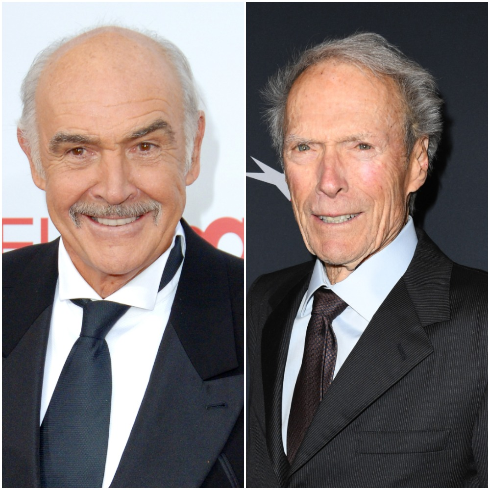 (L) Sean Connery, (R) Clint Eastwood
