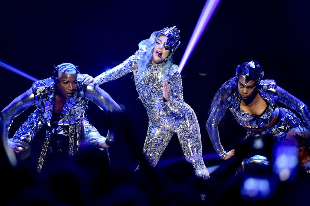 Lady Gaga performs on stage during AT&T TV Super Saturday Night