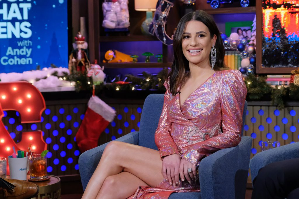 Lea Michele on 'Watch What Happens Live with Andy Cohen' | Charles Sykes/Bravo/NBCU Photo Bank via Getty Images