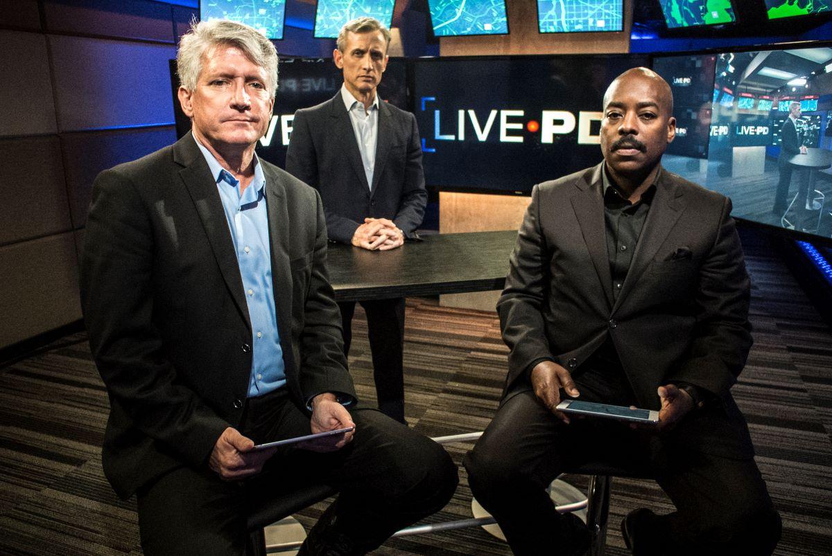 Dan Abrams, Tom Morris Jr and Sgt. Sean Larkin of 'Live PD' | Bill Tompkins/Getty Images