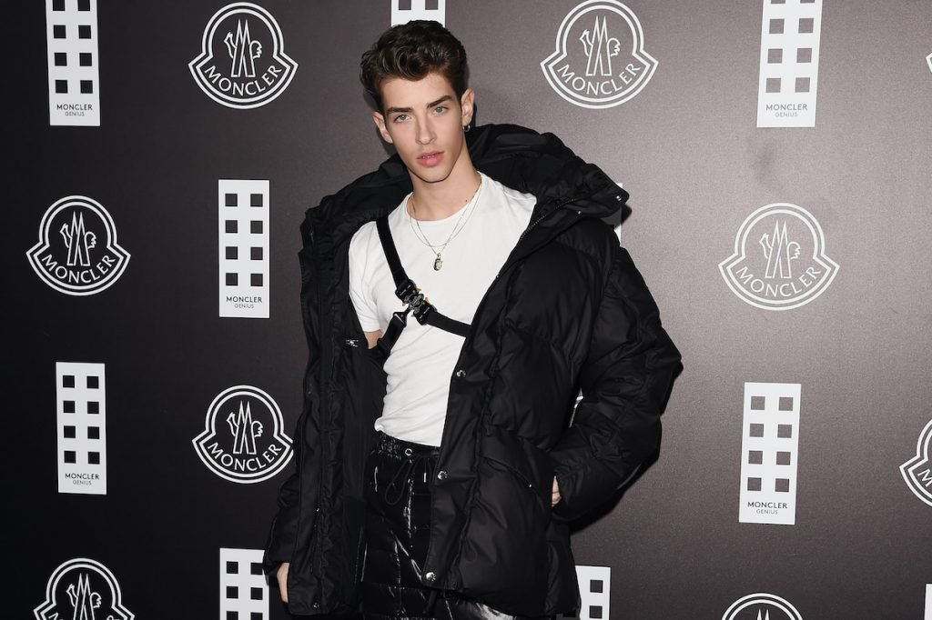 Manu Ríos attends the Moncler fashion show in Milan, Italy