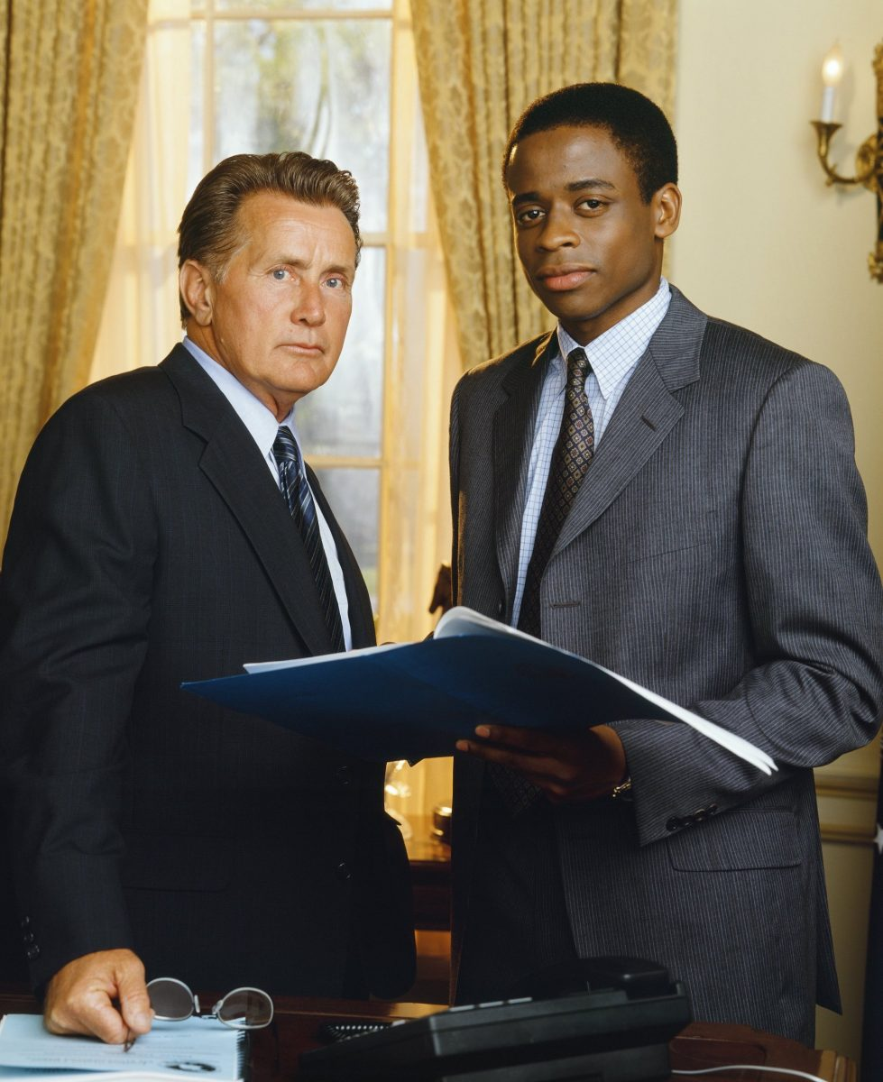 Martin Sheen and Dulé Hill in 'The West Wing'