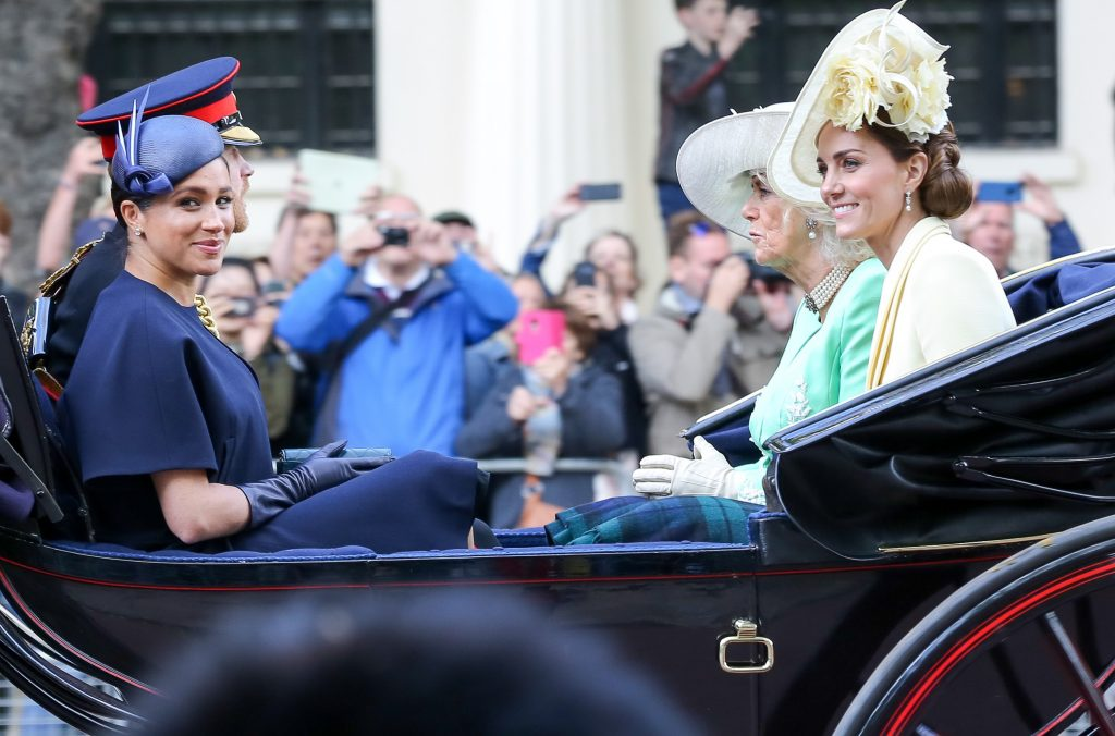 Meghan Markle, Prince Harry, Camilla Parker Bowles, and Kate Middleton