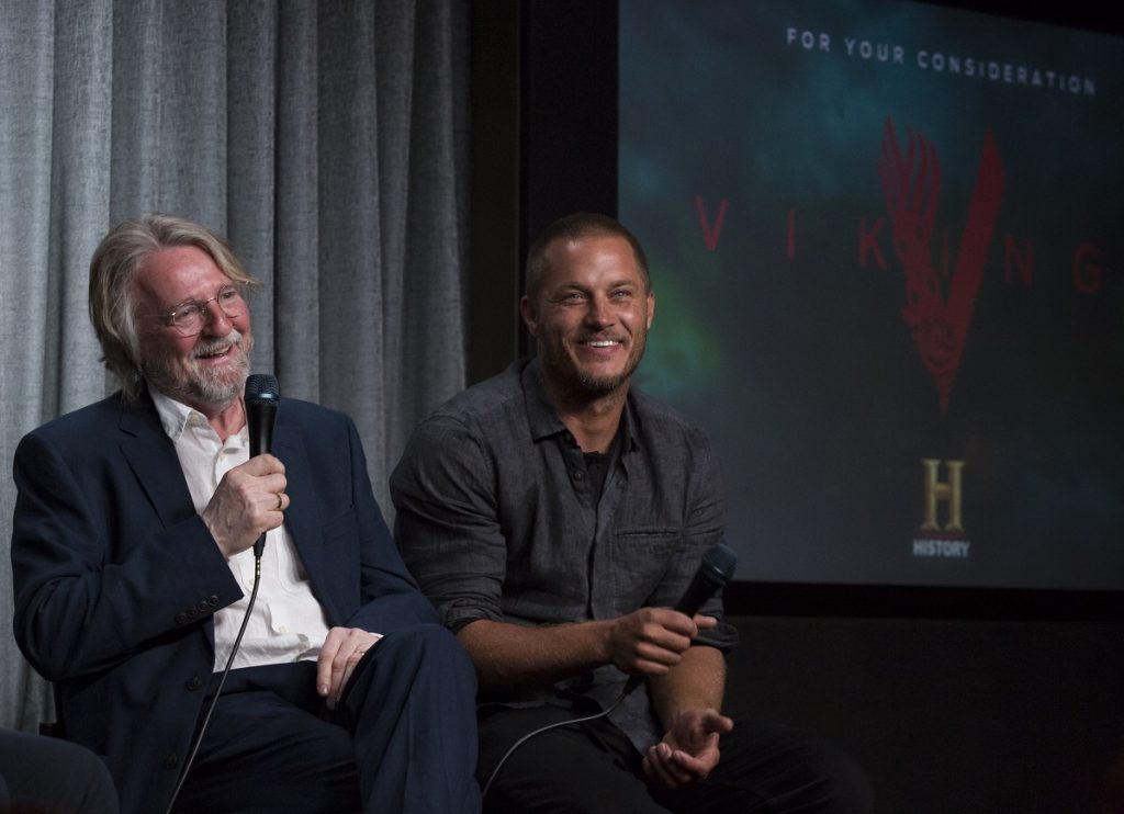 Michael Hirst and Travis Fimmel