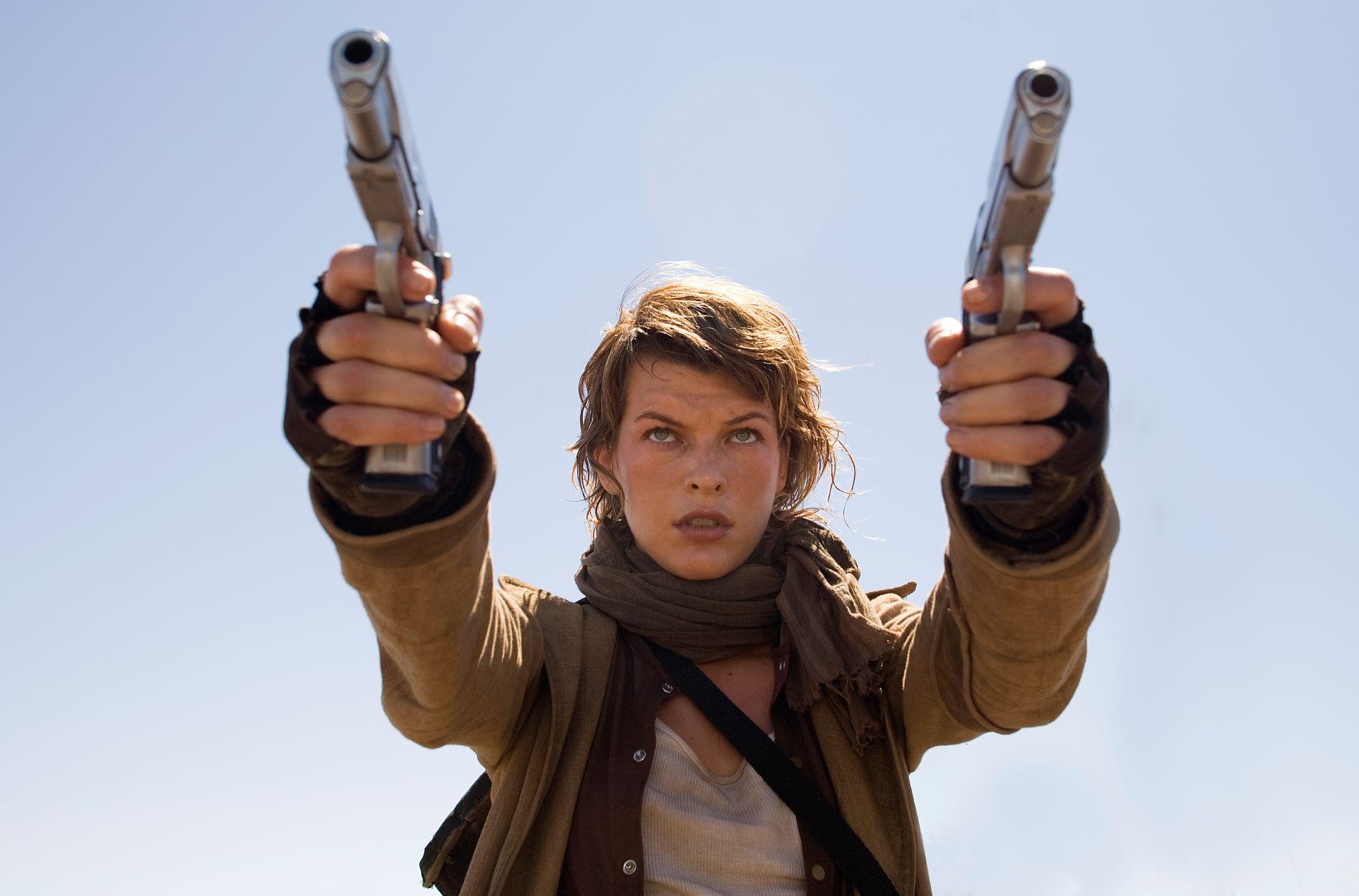 Milla Jovovich in 'Resident Evil'