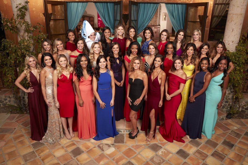 'The Bachelor' cast with Nick Viall with winner Vanessa Grimaldi and future Bachelorette Rachel Lindsay