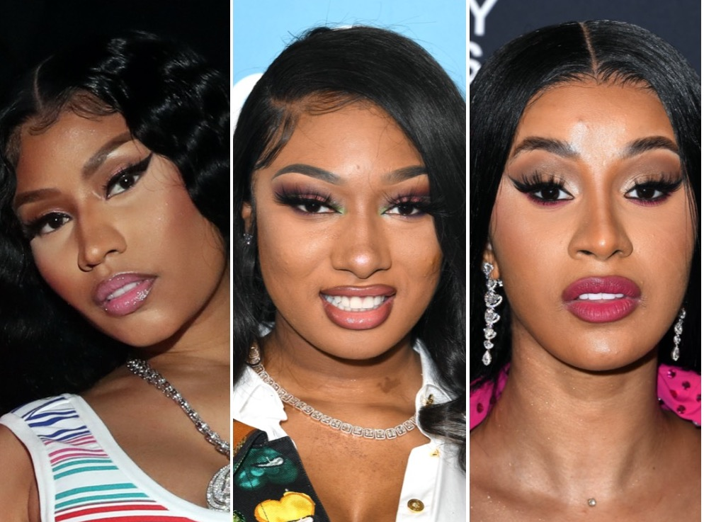Nicki Minaj, Megan Thee Stallion, and Cardi B