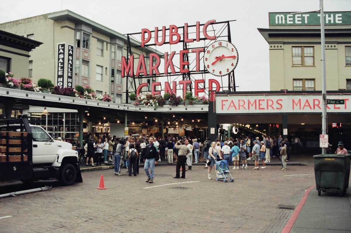 Pike Place Market during the filming of 'Frasier'