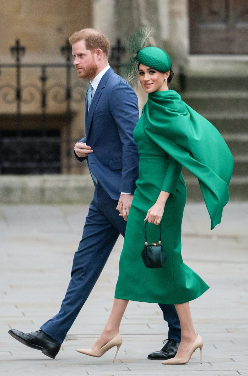 Prince Harry and Meghan Markle hold hands attending Commonwealth Day Service 2020