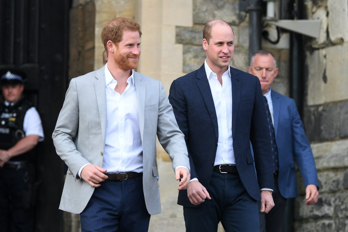 Prince Harry and Prince William take a walkabout before 2018 royal wedding