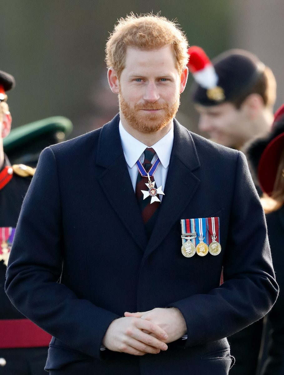 Prince Harry attends the Sovereign's Parade at Sandhurst Military Academy