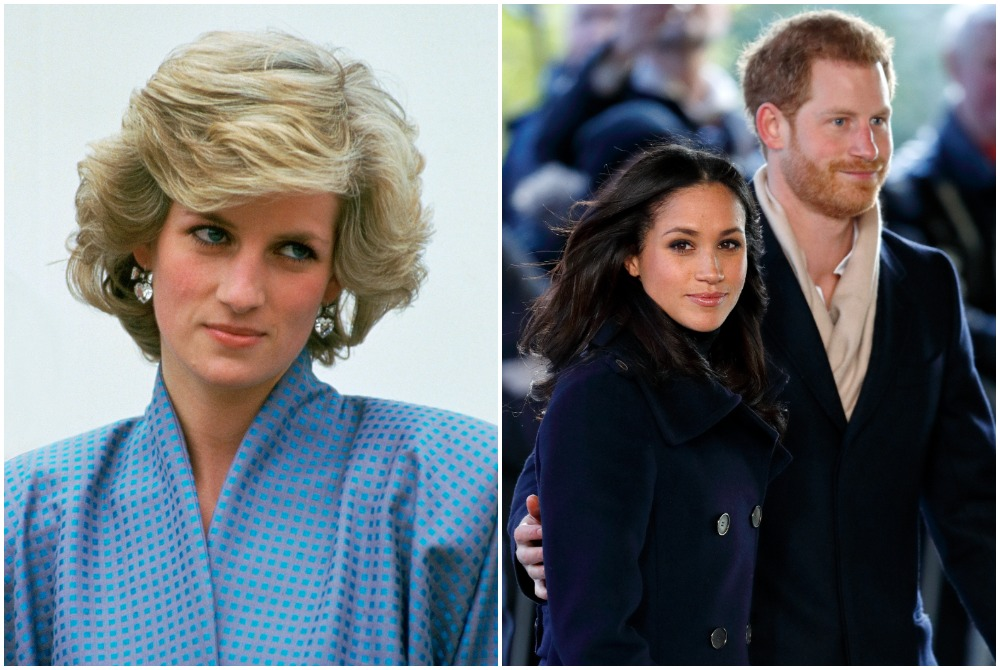 Princess Diana Prince Harry and Meghan Markle