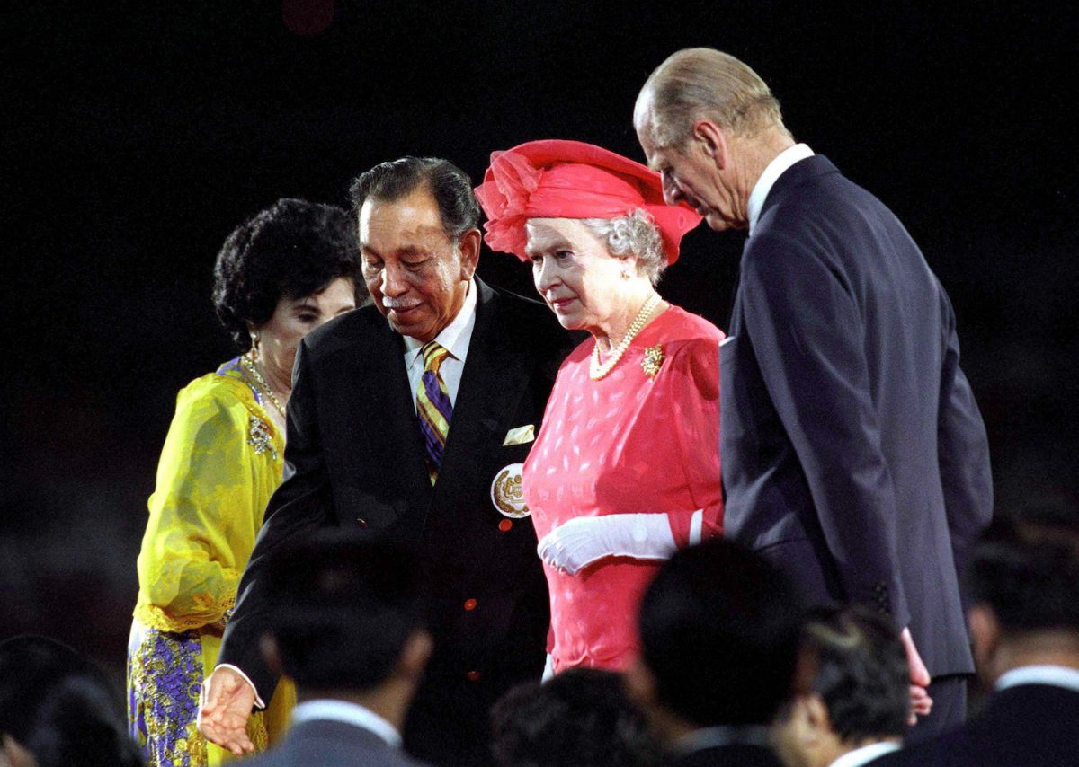 Queen Elizabeth II and Prince Philip attend the Commonwealth Games closing ceremony