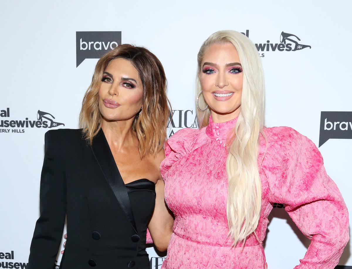 Lisa Rinna and Erika Jayne attend Bravo's Premiere Party for 'The Real Housewives of Beverly Hills' Season 9 and 'Mexican Dynasties' at Gracias Madre