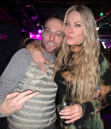 David Yontef and Leah McSweeney at the Married to the Mob party