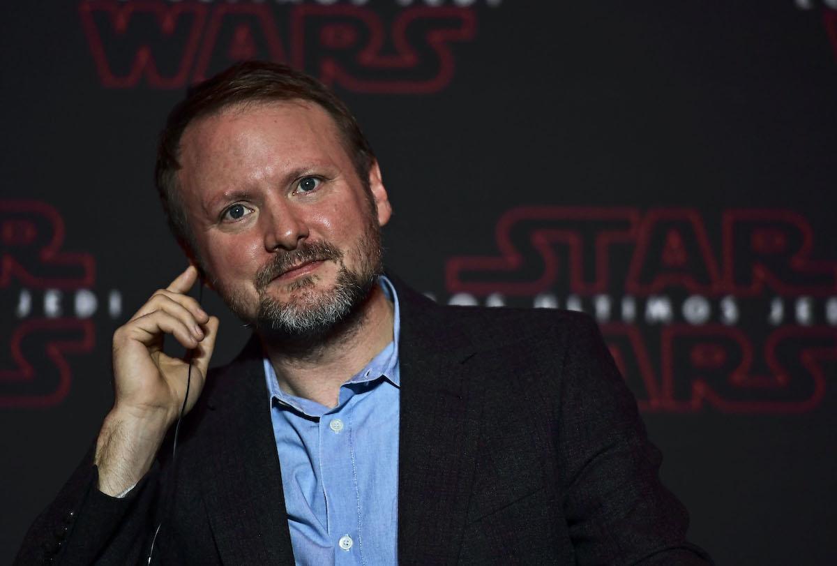 Rian Johnson at a 'Star Wars: The Last Jedi' press conference