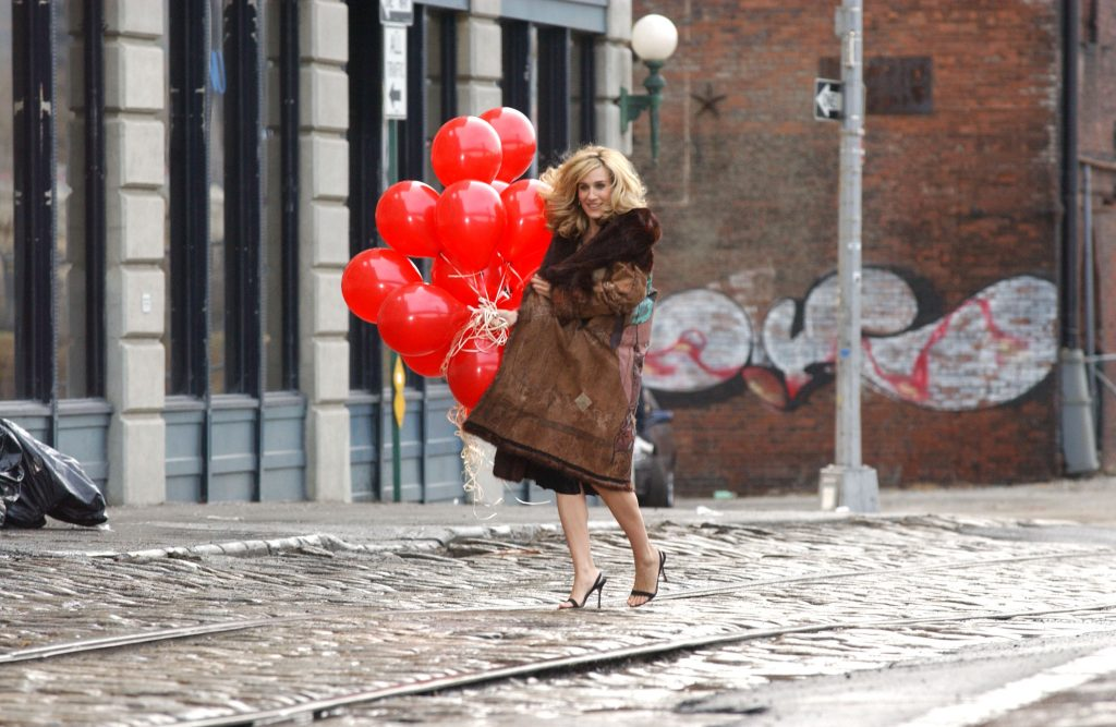 Sarah Jessica Parker in a 'Sex and the City' promo photo