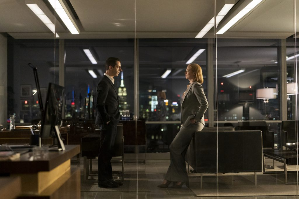 Sarah Snook and Jeremy Strong on Succession
