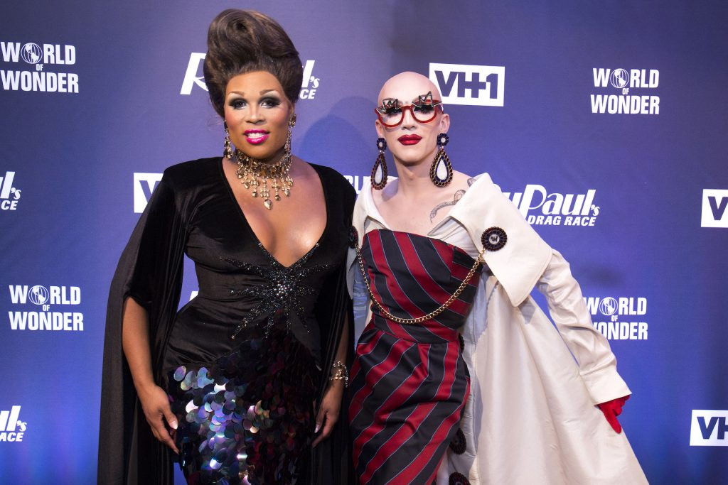 Peppermint and Sasha Velour attend the 'RuPaul's Drag Race' Season 9 Finale Viewing Party