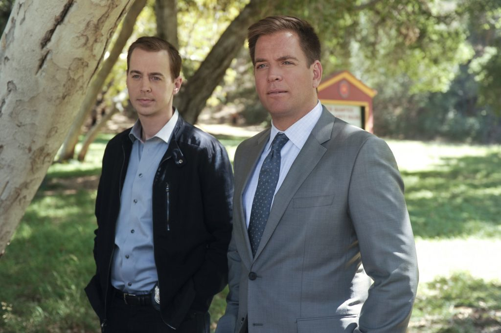 Sean Murray and Michael Weatherly on the set of NCIS    Darren Michaels/CBS via Getty Images