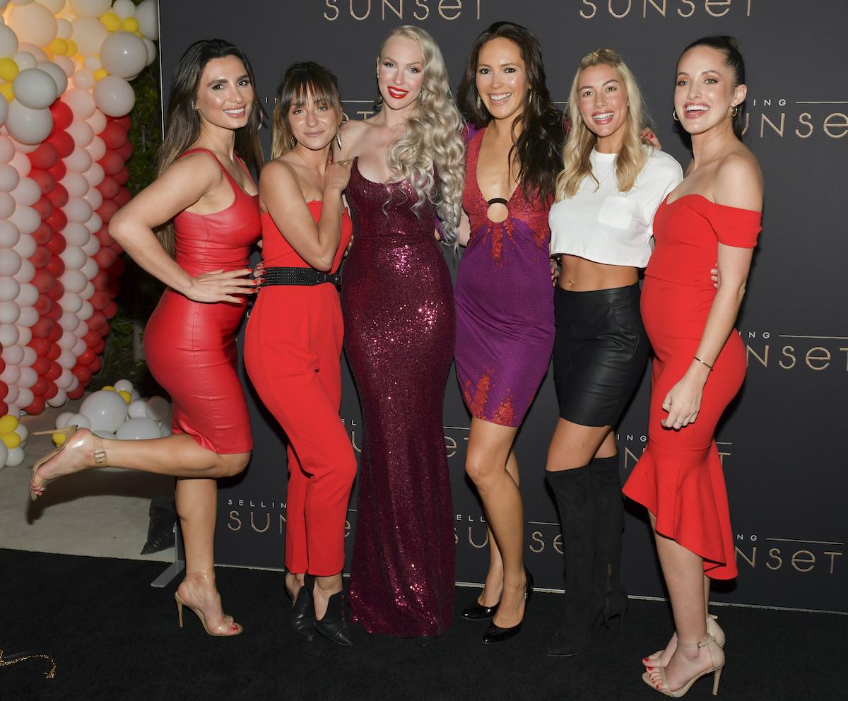 Christine Quinn, Davina Potratz, Heather Raye Young, and cast attend Netflix's Selling Sunset