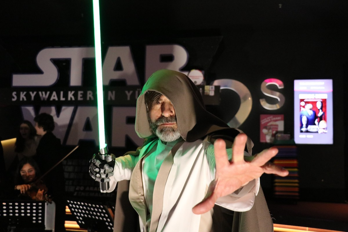 'Star Wars' fans at a private screening of 'Star Wars: The Rise of Skywalker'