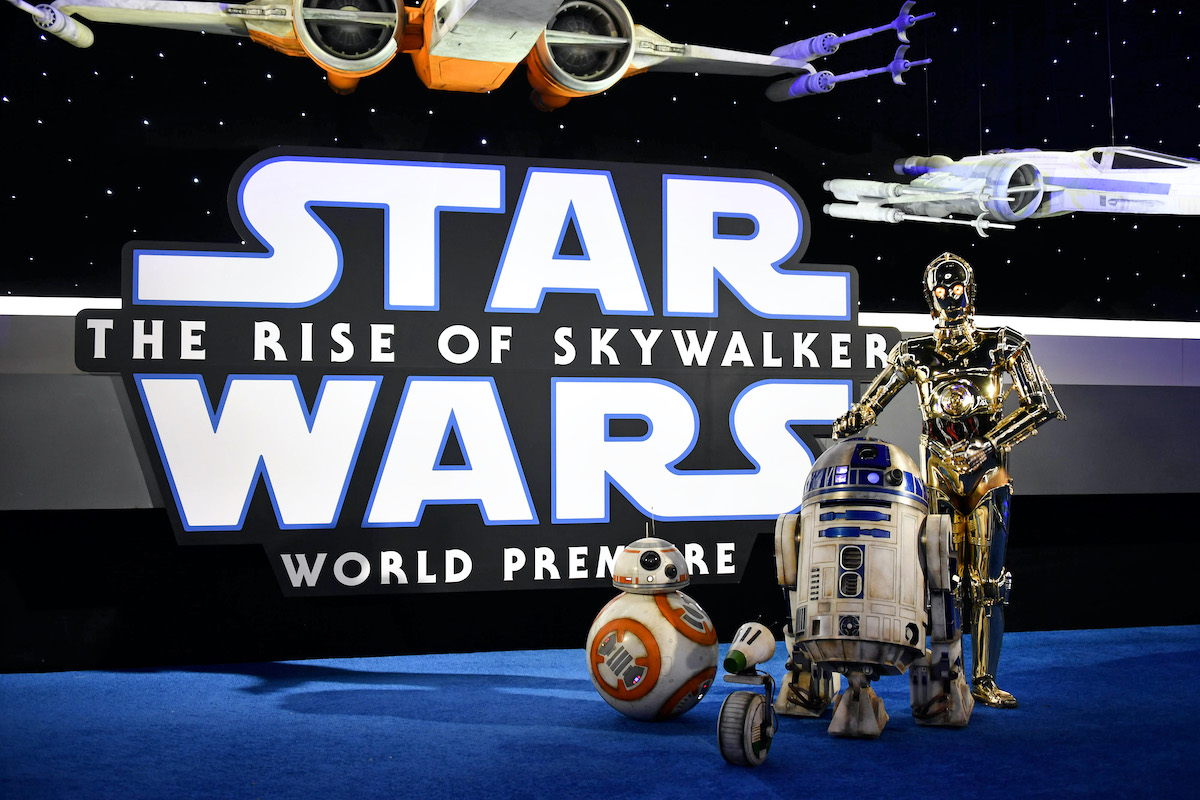 BB-8, R2-D2, and C-3PO at the 'Star Wars: The Rise of Skywalker'