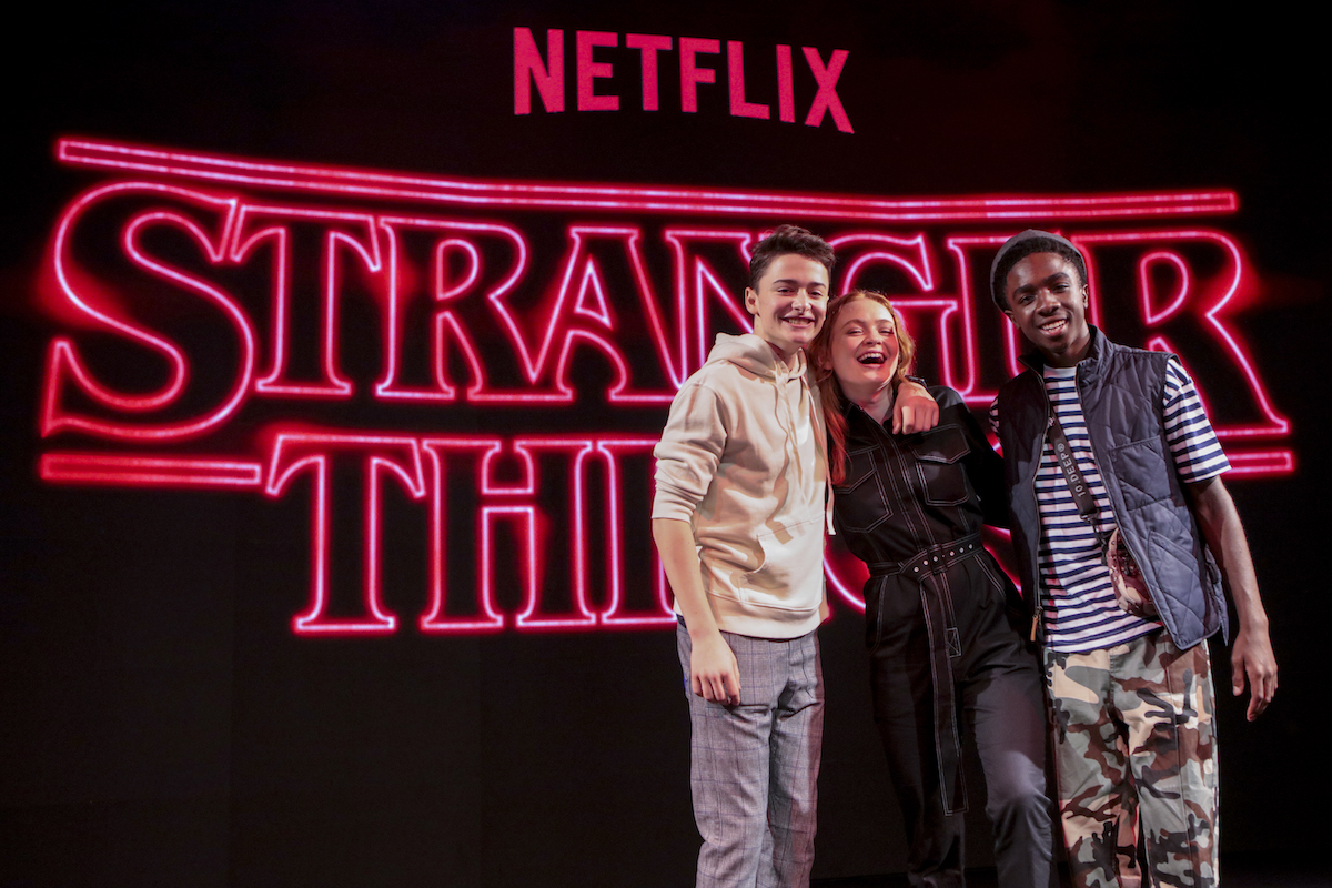Noah Schnapp, Caleb McLaughlin, and Sadie Sink at Argentina Comic Con