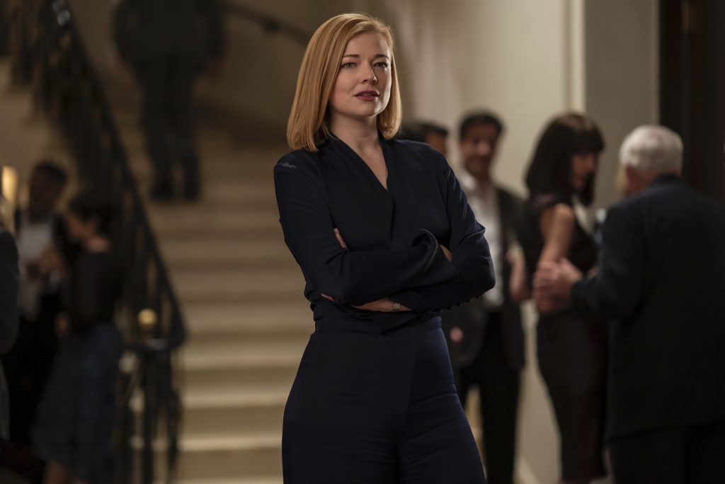 Succession cast member Sarah Snook in season 2 of the HBO show