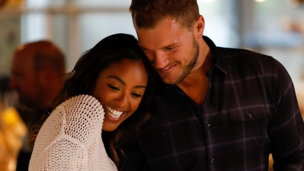 Tayshia Adams and Colton Underwood on a date during 'The Bachelor' Season 23