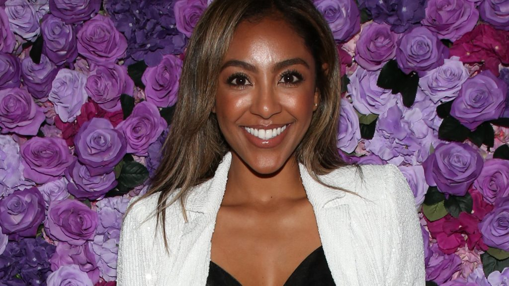 "Bachelor Nation star Tayshia Adams  attend the screening of Lionsgate's ""I Still Believe"" at Fairfax Cinemas on March 11, 2020 in West Hollywood, California."