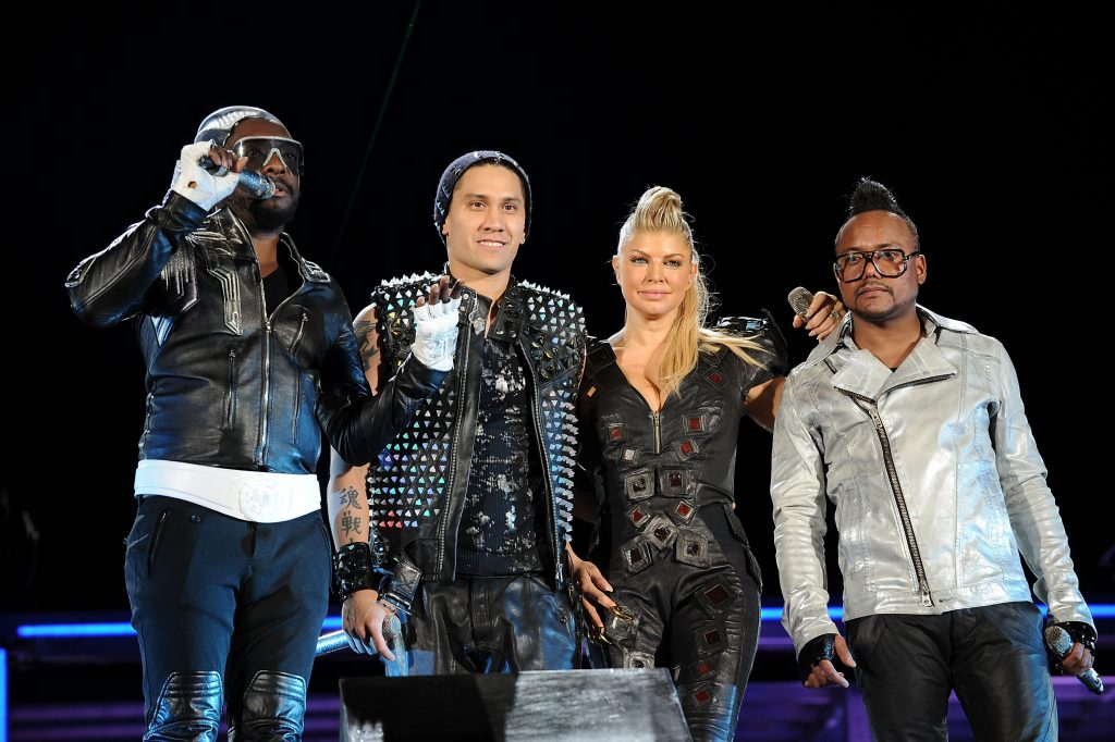 "Will.i.am, Taboo, Fergie and apl.de.ap of The Black Eyed perform onstage during CHASE Presents The Black Eyed Peas and Friends ""Concert 4 NYC"""