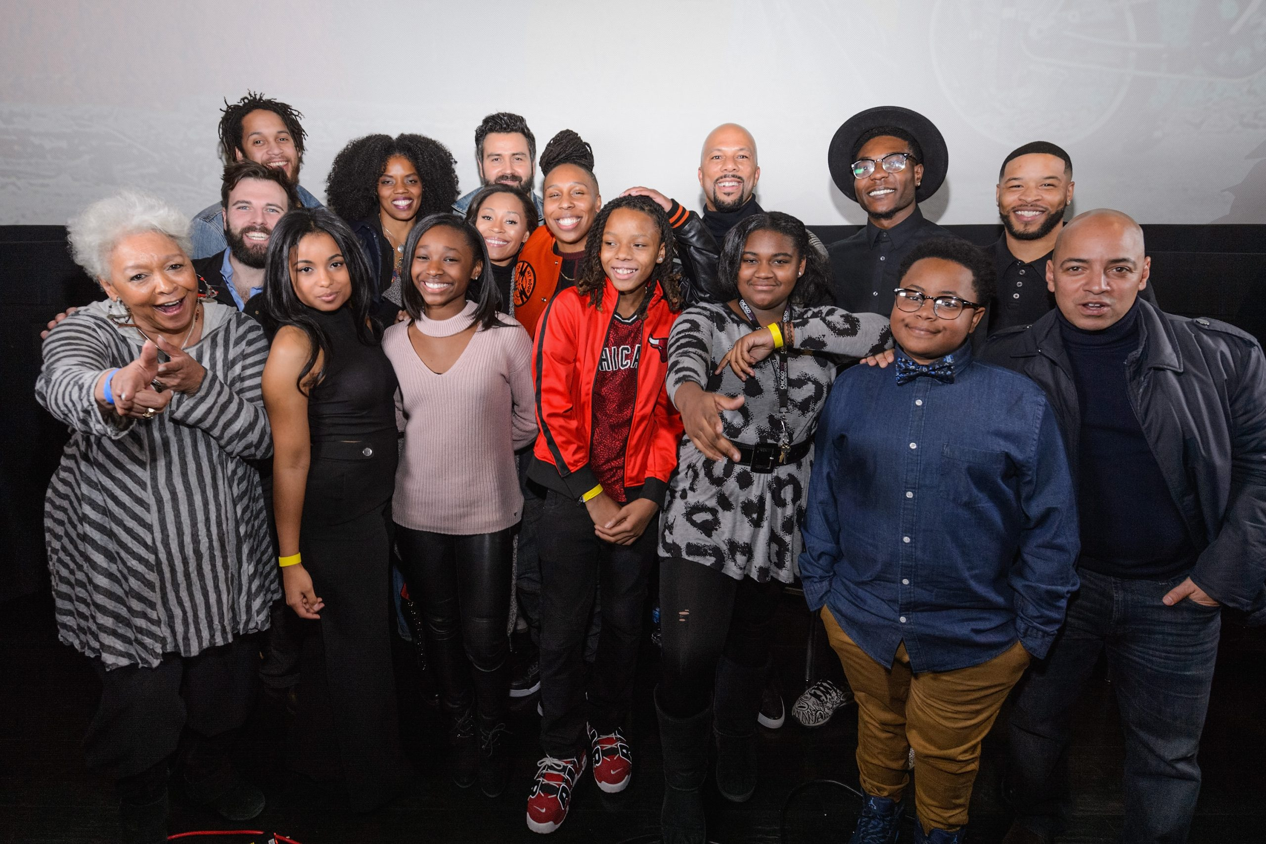 Cast members attends the Q&A during an advance screening of Showtime's 'The Chi' on Chicago's South Side