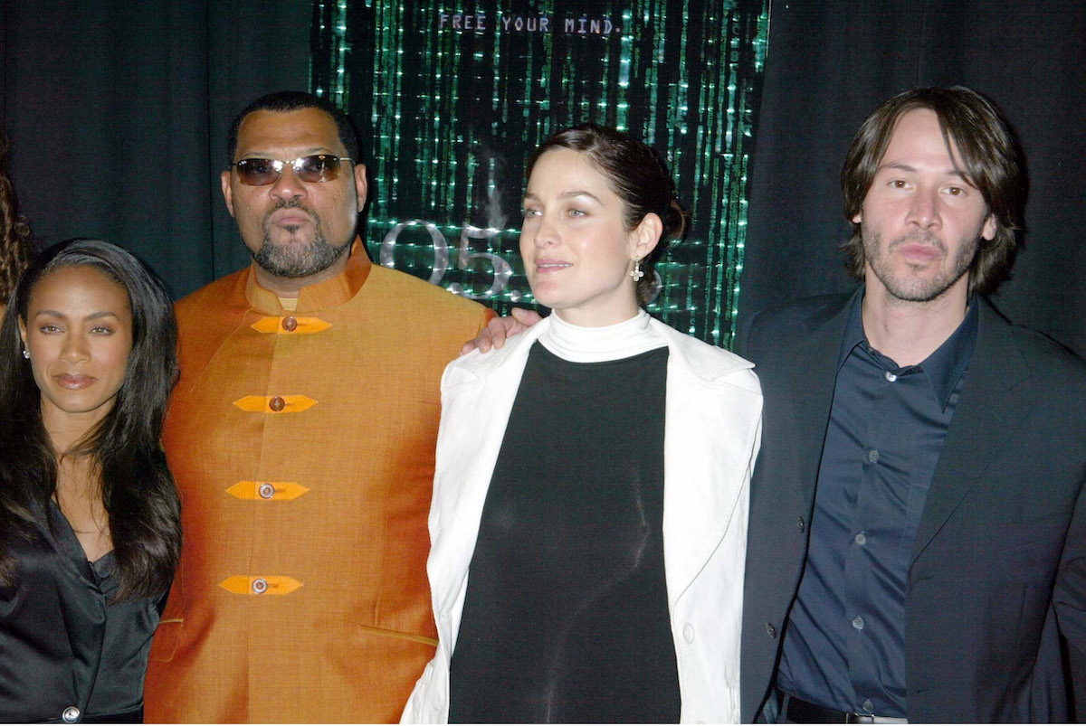 Jada Pinkett Smith, Laurence Fishburne, Carrie-Anne Moss, and Keanu Reeves | Sylvain Gaboury/FilmMagic