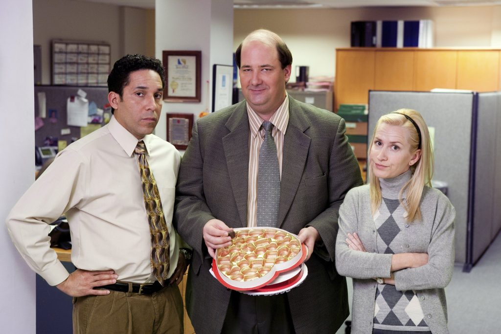 Oscar Nunez, Brian Baumgartner, and Angela Kinsey