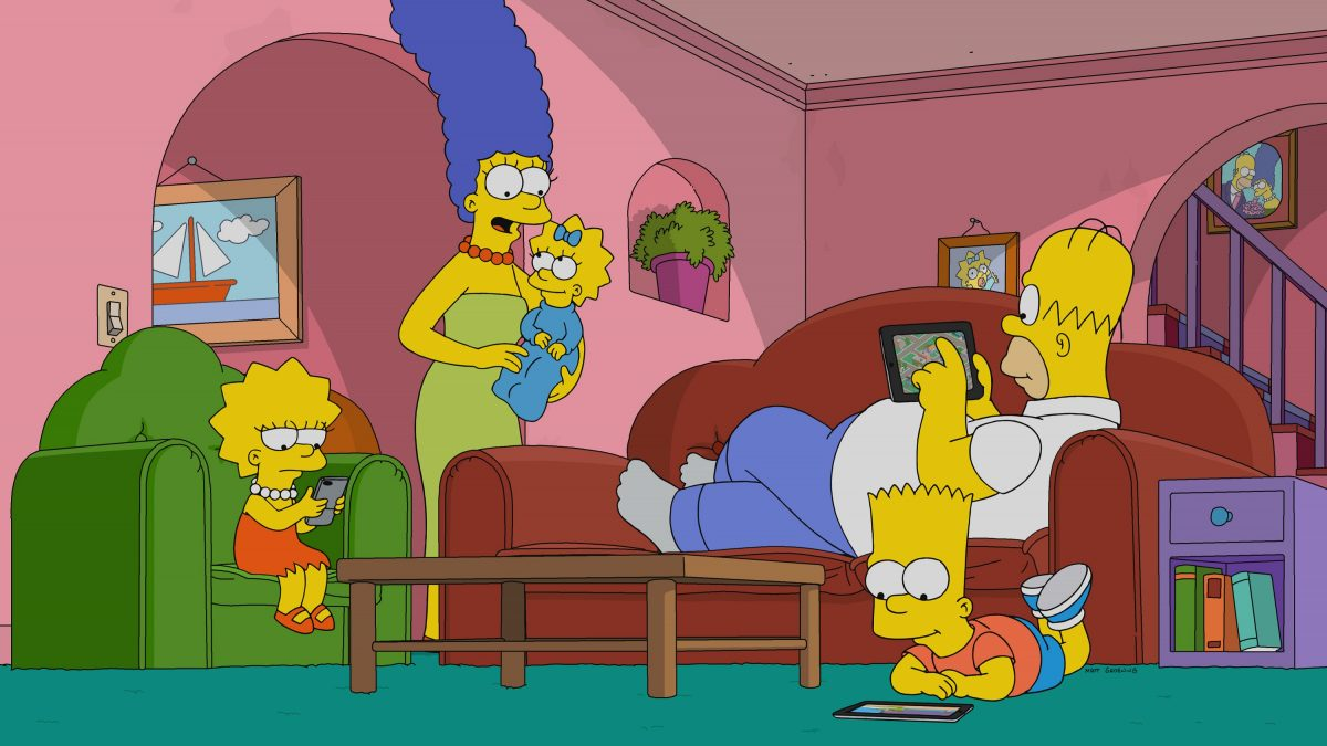 The Simpsons at home