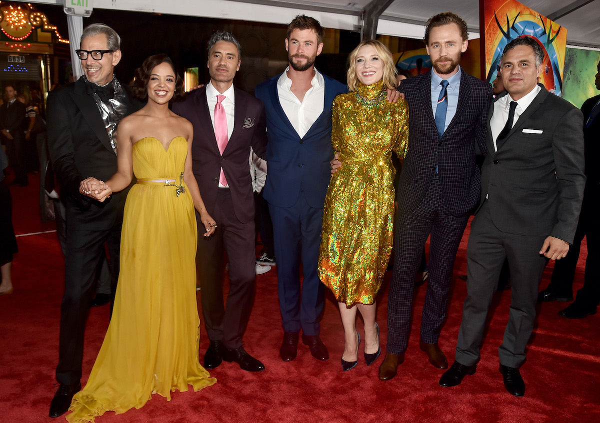 Director Taika Waititi and the cast of 'Thor: Ragnarok'