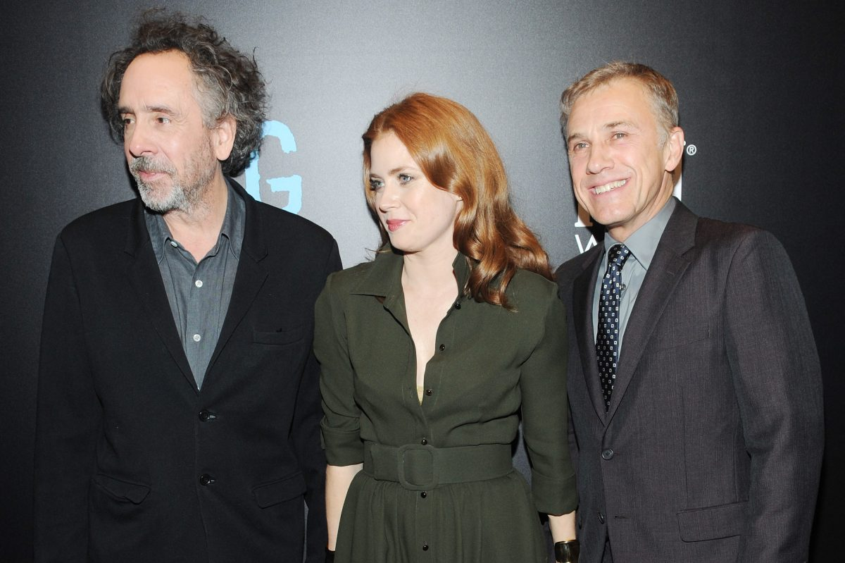 Tim Burton wtih Amy Adams and Christoph Waltz