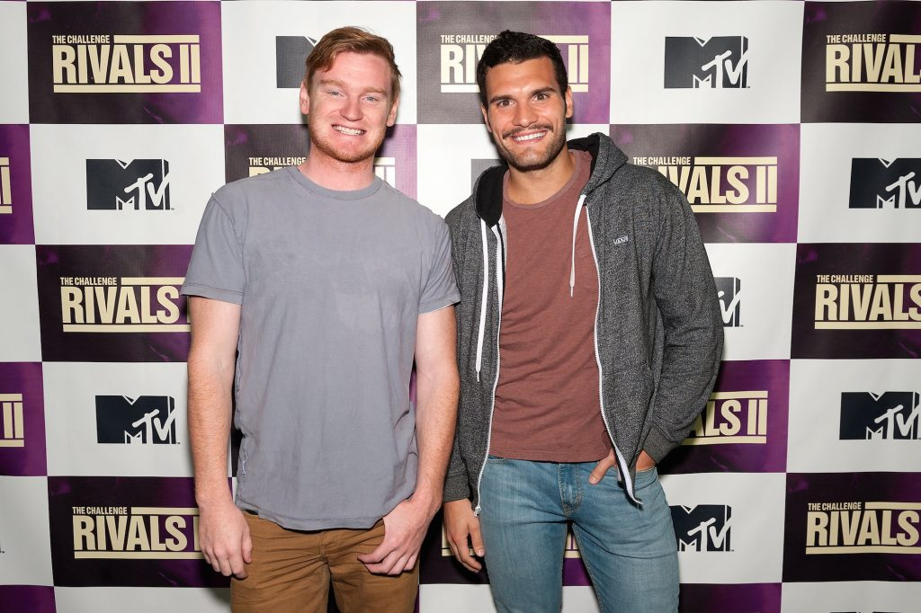 Wes Bergmann (L) and Frank Sweeney attend MTV's 'The Challenge: Rivals II' Final Episode and Reunion Party