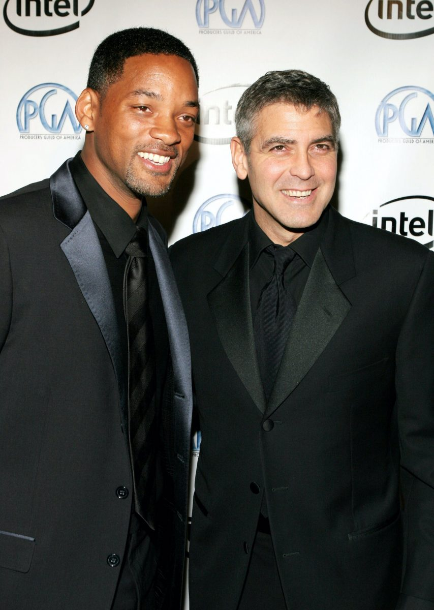 Will Smith and George Clooney at the 2006 Producers Guild Awards