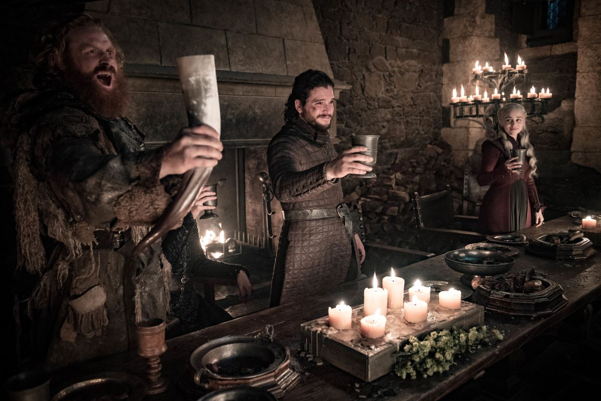 Winterfell banquet on Game of Thrones