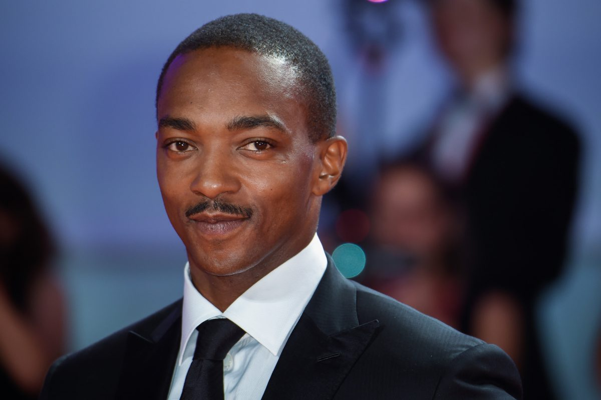 Anthony Mackie on the red carpet