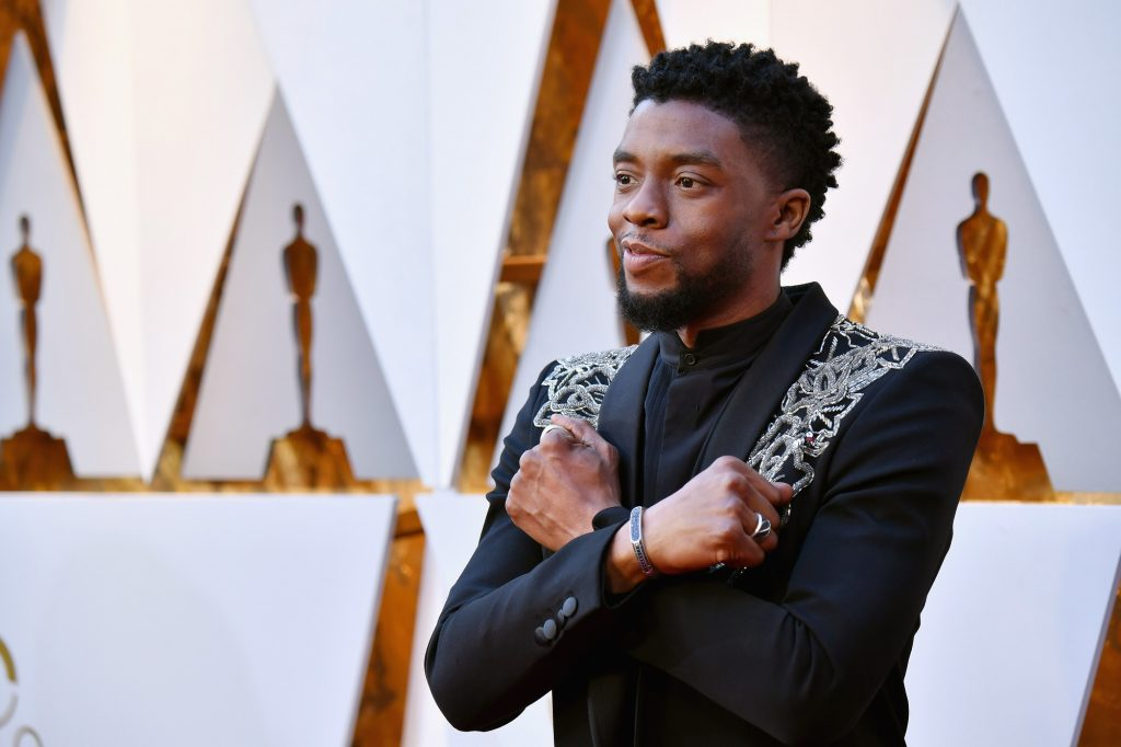Chadwick Boseman attends the 90th Annual Academy Awards on March 4, 2018 in Hollywood, California.