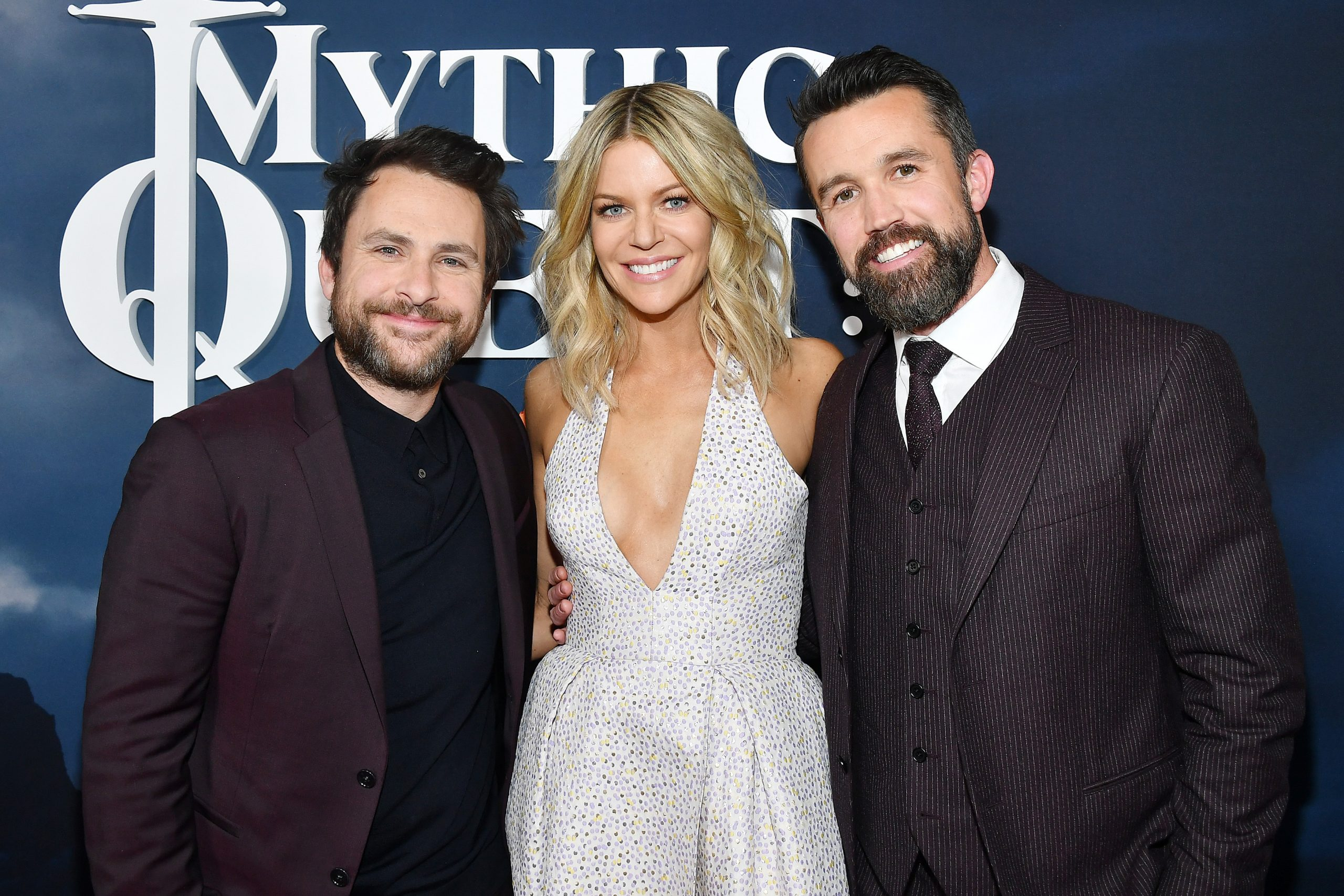 Charlie Day, Kaitlin Olson. and Rob McElhenney of It's Always Sunny in Philadelphia