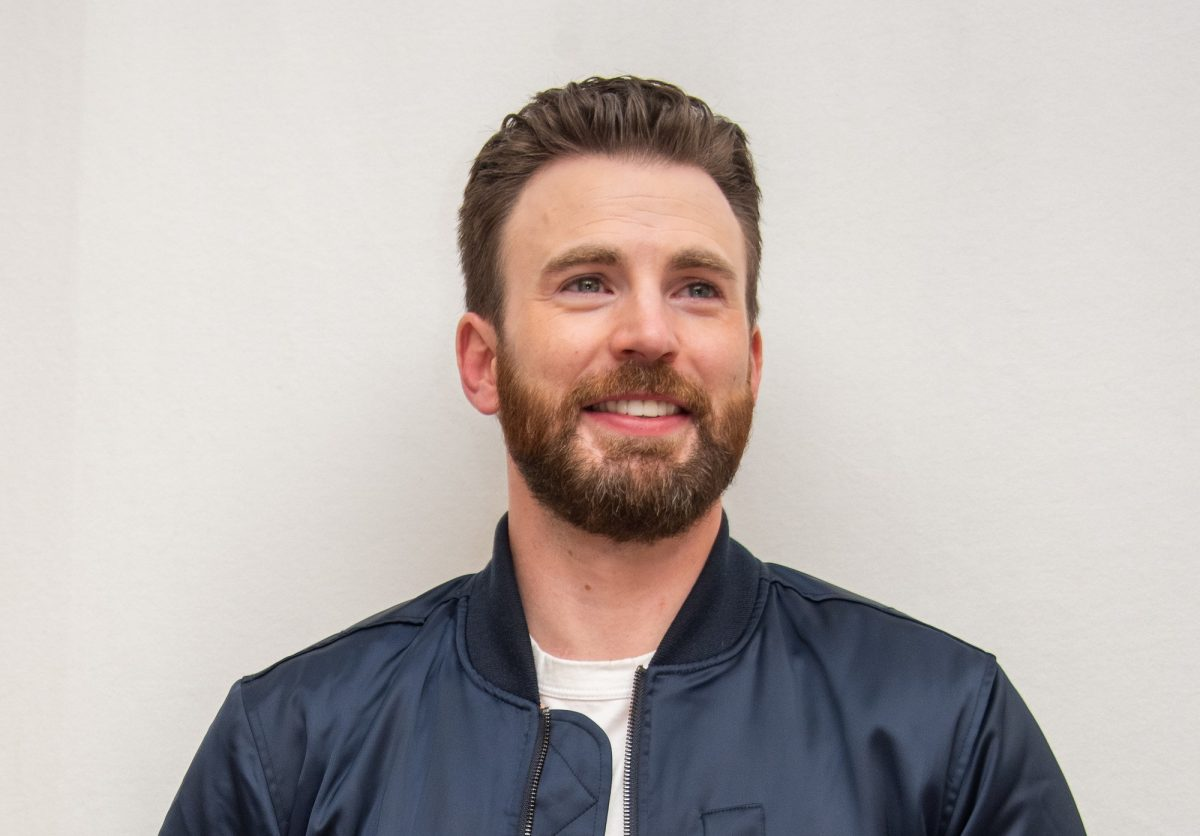 Chris Evans at the 'Knives Out' Press Conference at the Four Seasons Hotel on November 15, 2019 in Beverly Hills, California.